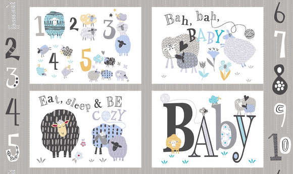Bah Bah Baby Pillow Panel Fabric 50828P-X from Windham by the panel