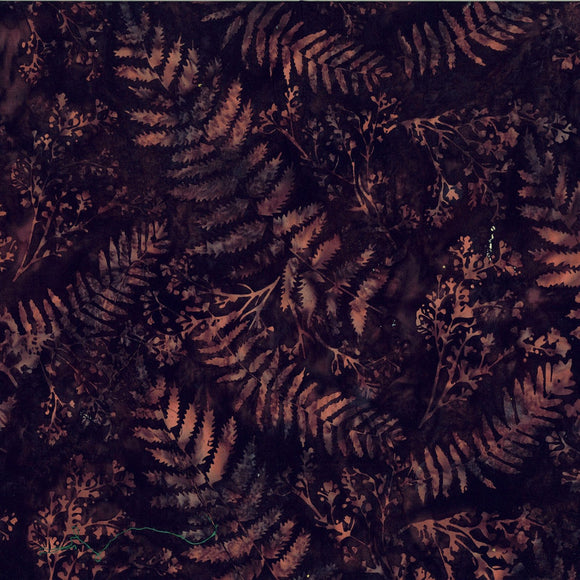 Bali Cinnabar Large Leaf Batik Fabric S2313-528 from Hoffman by the yard