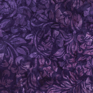 Bali Orchid Violet Tropical Escape Batik Fabric 09621-66 from Benartex by the yard