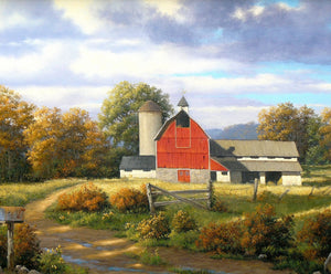 "Barnyard Friends 36"" x 43-1/2"" Dream Barn Panel P9323 from Riley Blake by the panel"