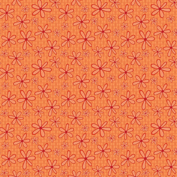 Basically Hugs Orange Daisy Fabric 25043-ORA1 from P & B by the yard
