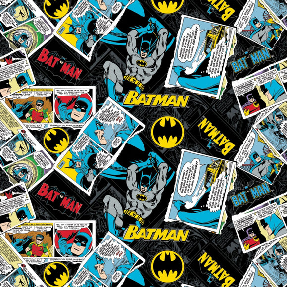 Batman Black Collage Fabric 23200119-03 from Camelot by the yard