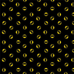 Batman Black Logo DC Comic Fabric 23200124-01 from Camelot Fabrics by the yard