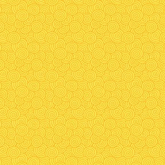 Bear Essentials 2 Yellow Swirls Fabric 570Y from P & B by the yard
