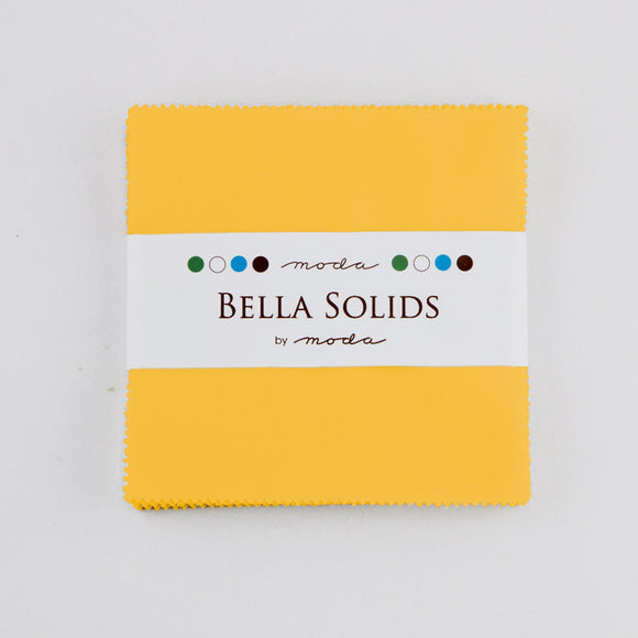 Bella Solids Dark Yellow Charm Pack 9900PP-24S from Moda by the pack