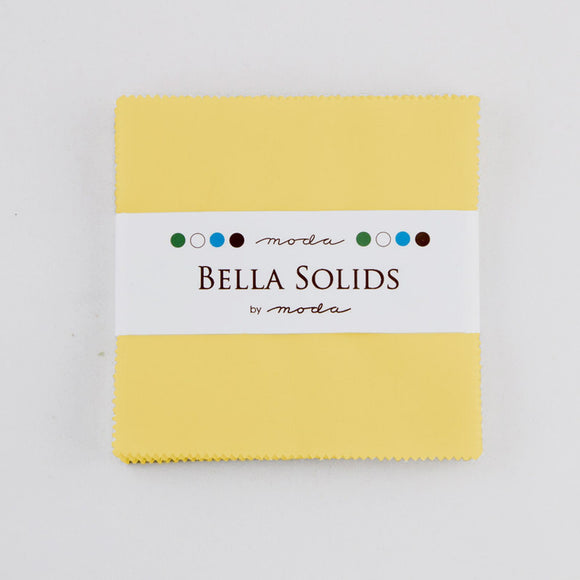 Bella Solids Pastel Yellow Charm Pack 9900PP-23 from Moda by the pack