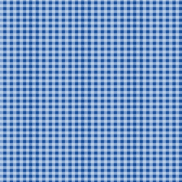 Berry Best Blue gingham Check Fabric 82610-444 from Wilmington by the yard