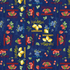 Berry Best Navy Words Allover Fabric 82605-493 from Wilmington by the yard