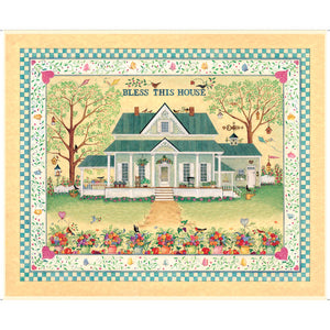 "Bless This House 36"" x 44"" Panel 27295S from Quilting Treasures by the panel"