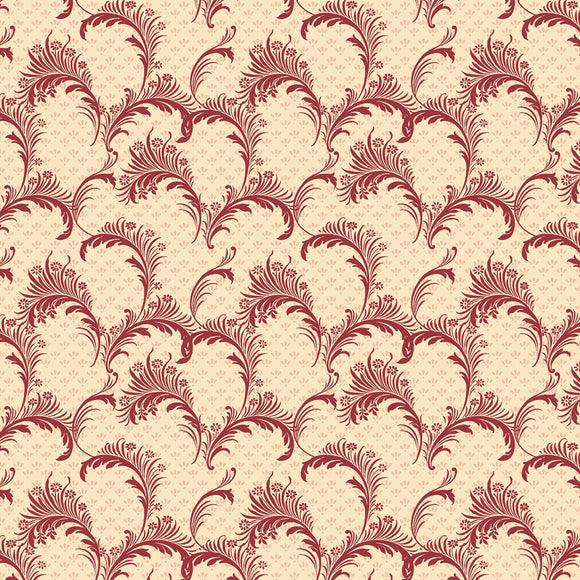 Bricolage Ivory Red Plume Fabric 98649-133 from Wilmington by the yard