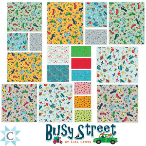 "Busy Street 5"" Squares Pack SQ0317 from Clothworks by the pack"