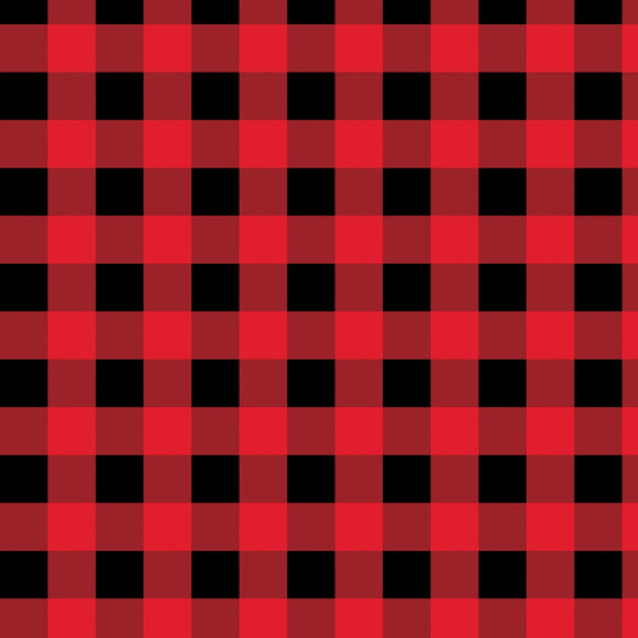 Cabin Welcome Home Red Buffalo Plaid Flannel 36106-339 from Wilmington by the yard