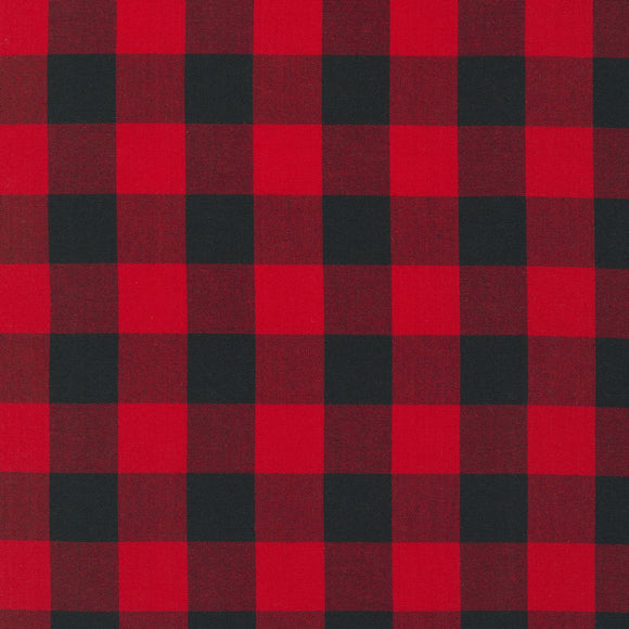 Carolina Scarlet One Inch Red Gingham Check Fabric 9811-93 from Robert Kaufman by the yard