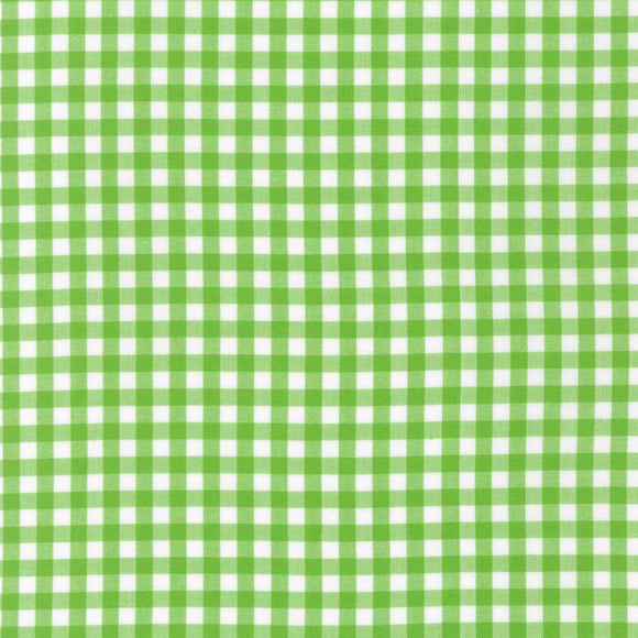 Carolina Lime Green Quarter Inch Gingham Fabric 1636850 from Robert Kaufman by the yard