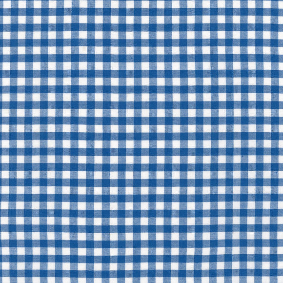 Carolina Royal Quarter Inch Gingham Fabric 1636811 from Robert Kaufman by the yard