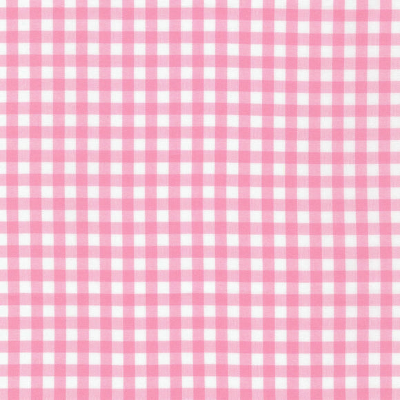 Carolina Petal Pink Quarter Inch Gingham Fabric 1636811 from Robert Kaufman by the yard