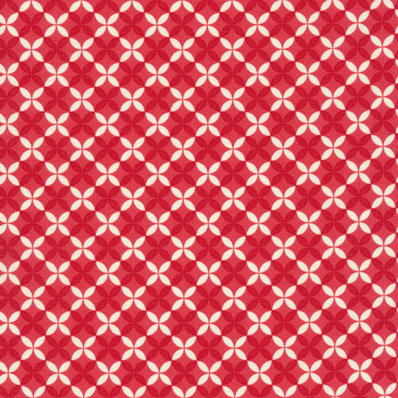 Christmas Figs II Red Geo Holiday Fabric 20356-31 from Moda by the yard