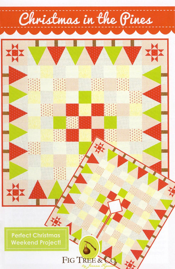 Christmas In The Pines Quilting Pattern FTQ1240 from Fig Tree & Co by the pattern