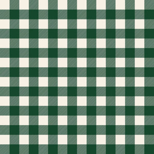 Christmas Traditions Dark Green One Inch Buffalo Check Fabric C9595-Green from Riley Blake by the yard