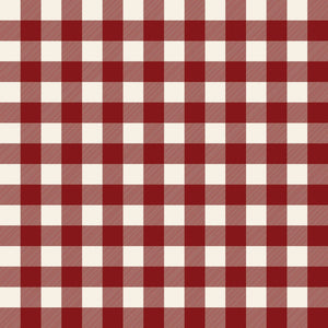Christmas Traditions Red One Inch Buffalo Check Fabric C9595-Red from Riley Blake by the yard