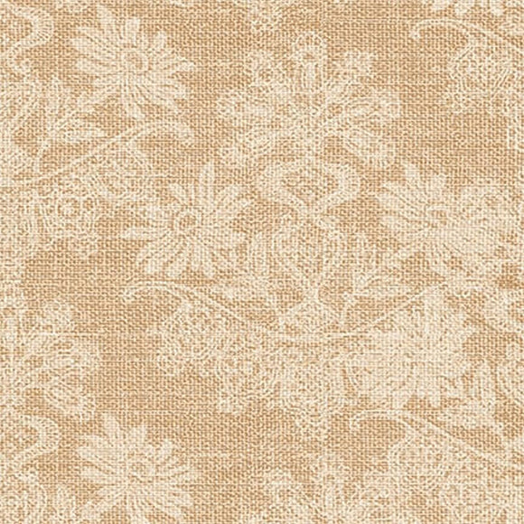 Coffee Break Tan Floral Texture Fabric 4443-44 from Studio E by the yard