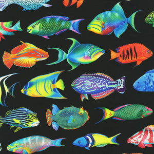 Coral Canyon Digital Black Fish 19904-2 from Robert Kaufman by the yard