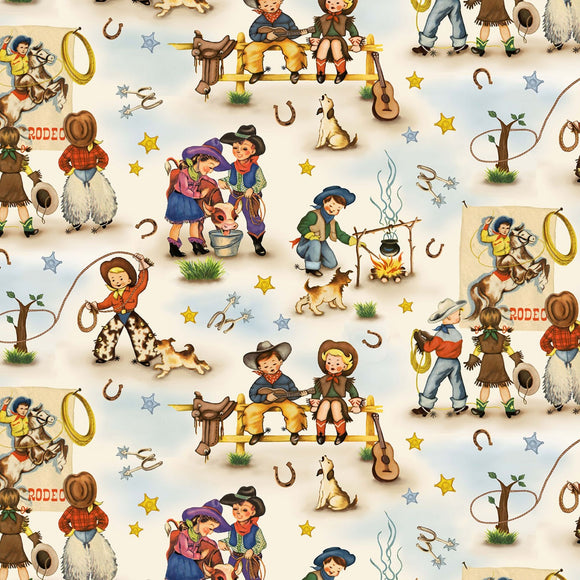 Country Rodeo Home On The Range Cream Multi CX945-MULT-D from Michael Miller by the yard