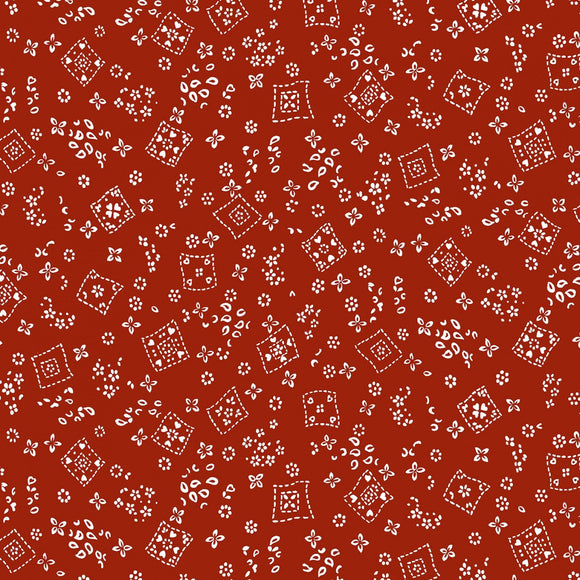 Country Rodeo Red Tossed Bandana Fabric CX9461-REDX-D from Michael Miller by the yard