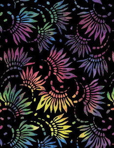 "Essentials 108"" Black Petals Wide Backing Fabric 2086-954 from Wilmington by the yard"