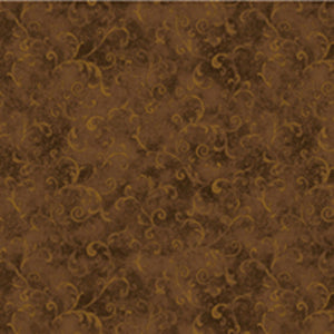 Essentials Filigree Brown Scroll Blender Fabric 42324-222 from Wilmington by the yard