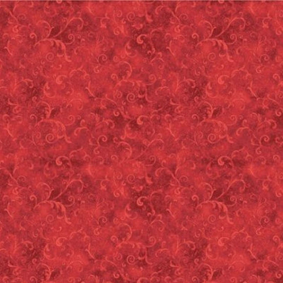 Essentials Red Filigree Blender Fabric 42324-333 from Wilmington by the yard