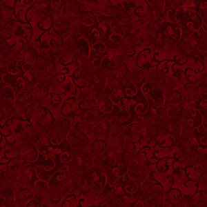 Essentials Dark Red Swirl Fabric 89025-389 from Wilmington by the yard
