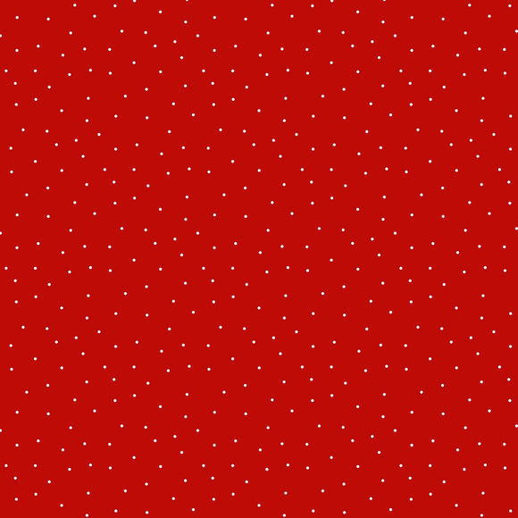 Essentials Tomato Red Pindot Fabric 39131-333 from Wilmington by the yard