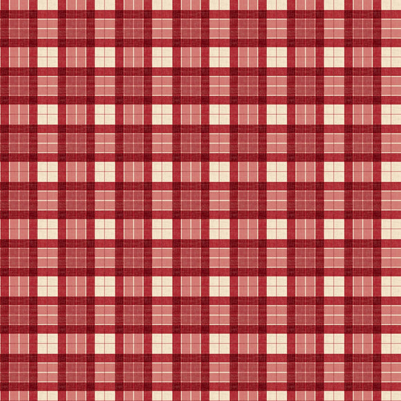Evergreen Farm Red Holiday Plaid Fabric 39650-323 from Wilmington by the yard