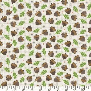 Falling Acorns on Cream T00497 from Adorn It