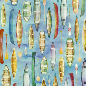Fly Home Skipper Boats Fabric R4643-338 from Hoffman by the yard
