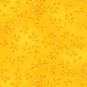 Folio Basics Yellow Vines Fabric 7755-34 from Henry Glass by the yard