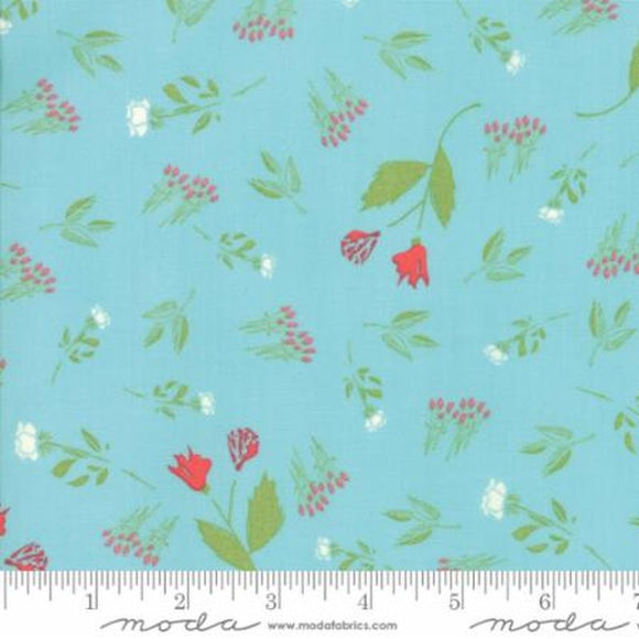 Front Porch Teal Floral 37541-18 from Moda