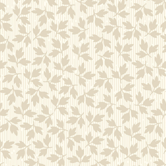 Fruitful Life Cream Mini Leaves Fabric MAS9329-E from Maywood by the yard