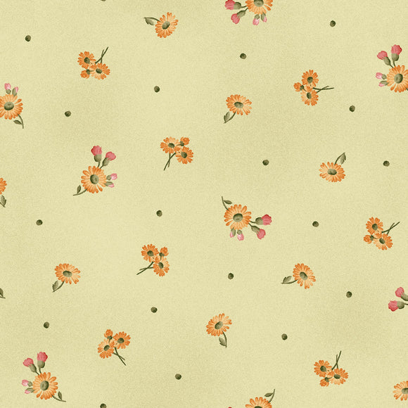 Fruitful Life Green TinyDaisies Fabric MAS9328-G from Maywood by the yard