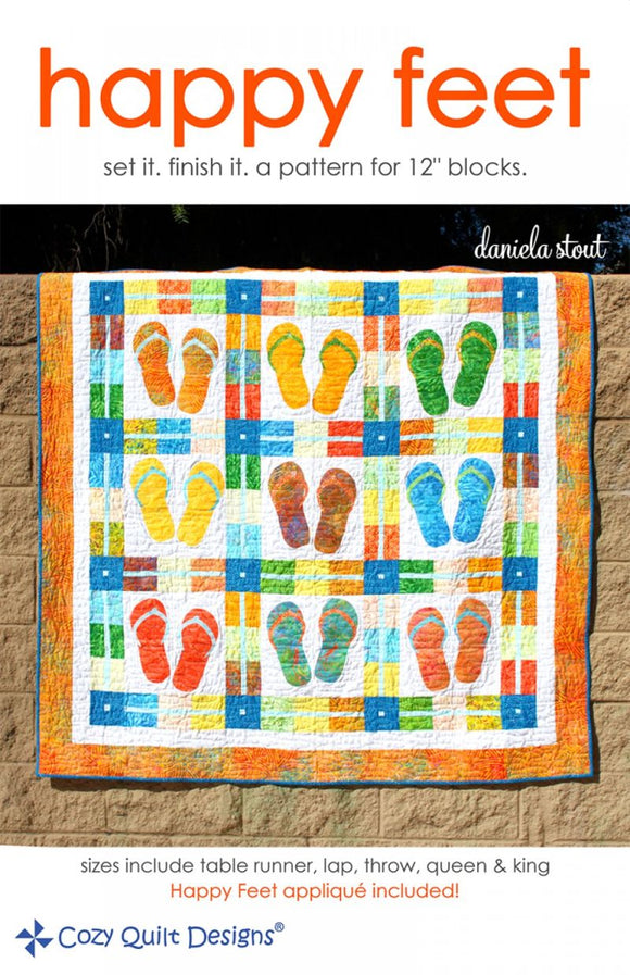 Happy Feet Quilt Pattern from Cozy Quilt Designs