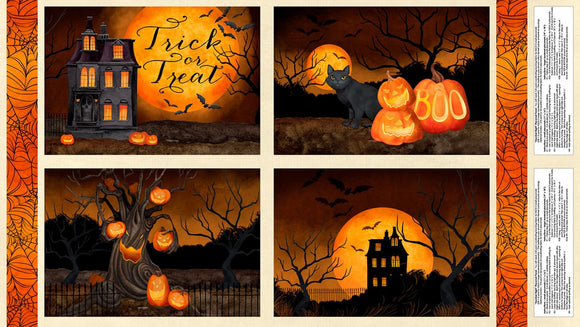 Haunted Night Placemat Panel 27586-289 from Wilmington by the panel