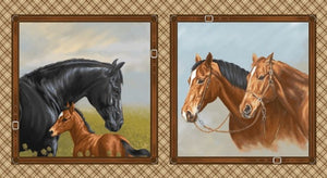 "Hold Your Horses 24"" x 44"" Large Block Panel 4382-33 from Studio E by the panel"