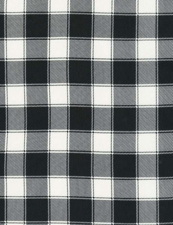 Holiday Black & White Buffalo Check Fabric C5784 from Timeless Treasures by the yard