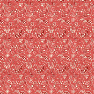 Homemade Happiness Red Paisley Bandana Fabric 89232-332 from Wilmington by the yard