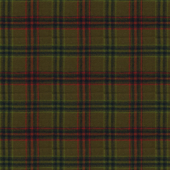 Primo Plaid Hunter Plaid Yarn Dyed Flannel Fabric R09-U087-0116 from Marcus by the yard