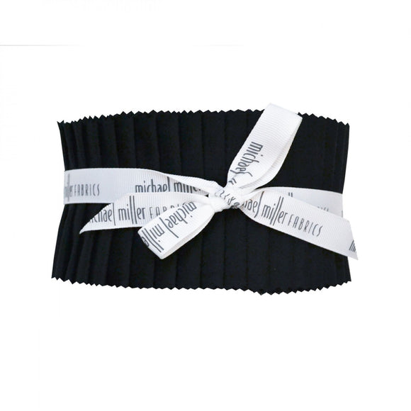 Jet Black Solid Jelly Roll ROLL0216 from Michael Miller by the roll