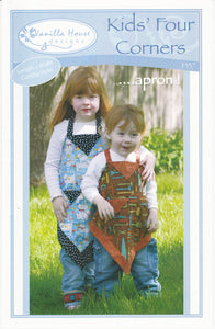 Kids' Four Corners Apron Pattern from Vanilla House Designs