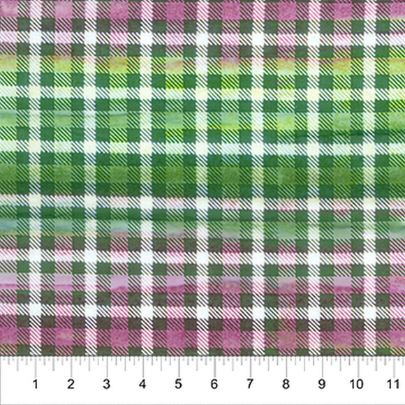 Kilts And Quilts Green Plaid Fabric 80390-73 from Banyan Batiks by the yard
