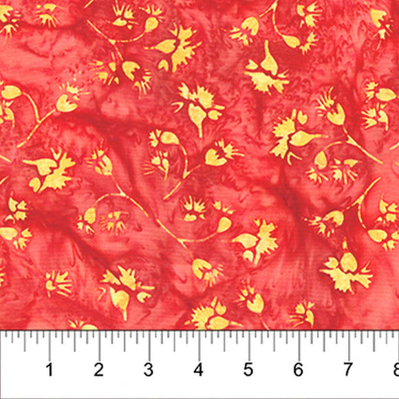 Kilts And Quilts Orange Thistle Batik Fabric 80393-24 from Banyan Batiks by the yard